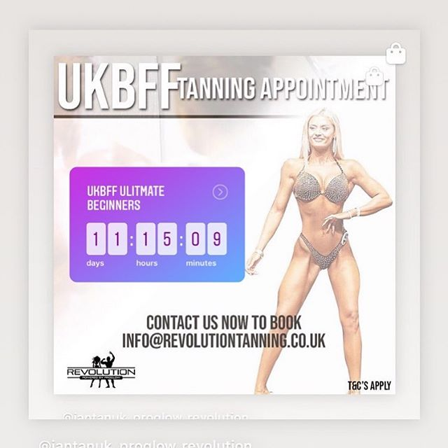Book your WINNING TAN today!!! www.revolutiontanning.co.uk  #ukbff #winningtan #jantana #ultimatebeginners #jantanauk