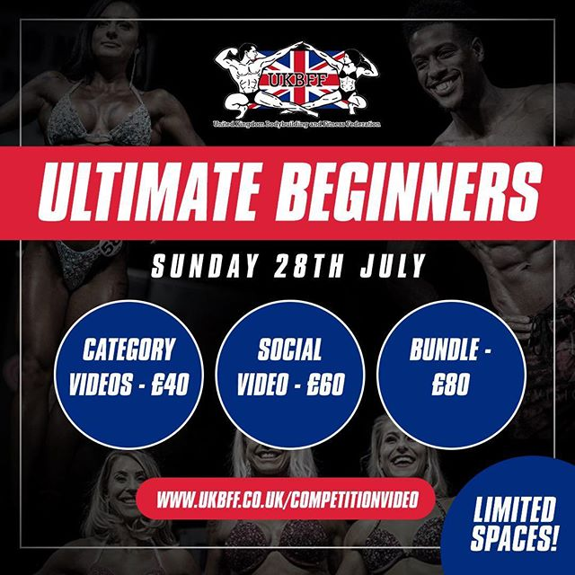 Hey everyone competing on Sunday, capture your stage time with an amazing video!! Get booked in today!! #ukbffvideo