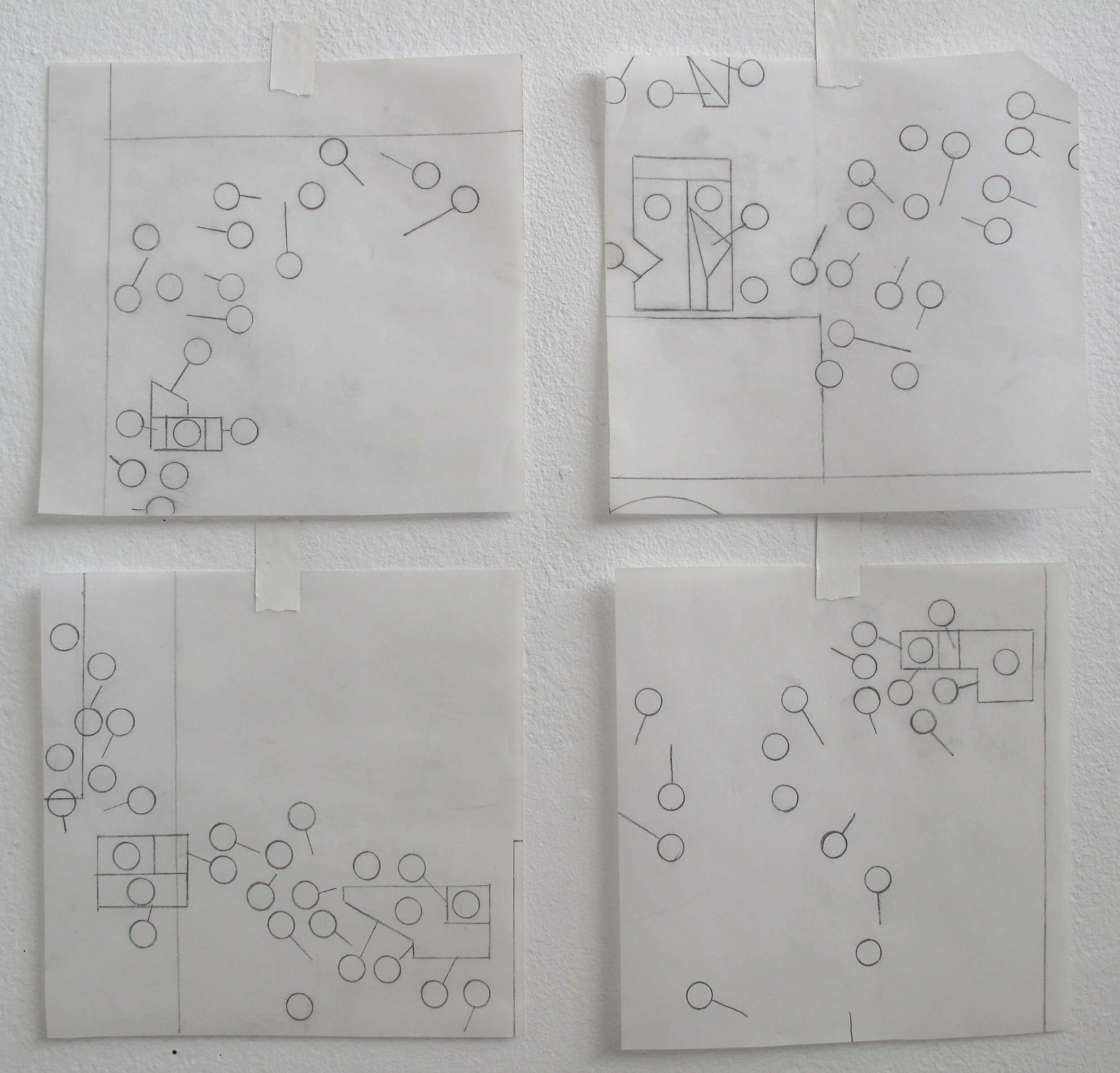 Circuits in Motion   Graphite on Denril