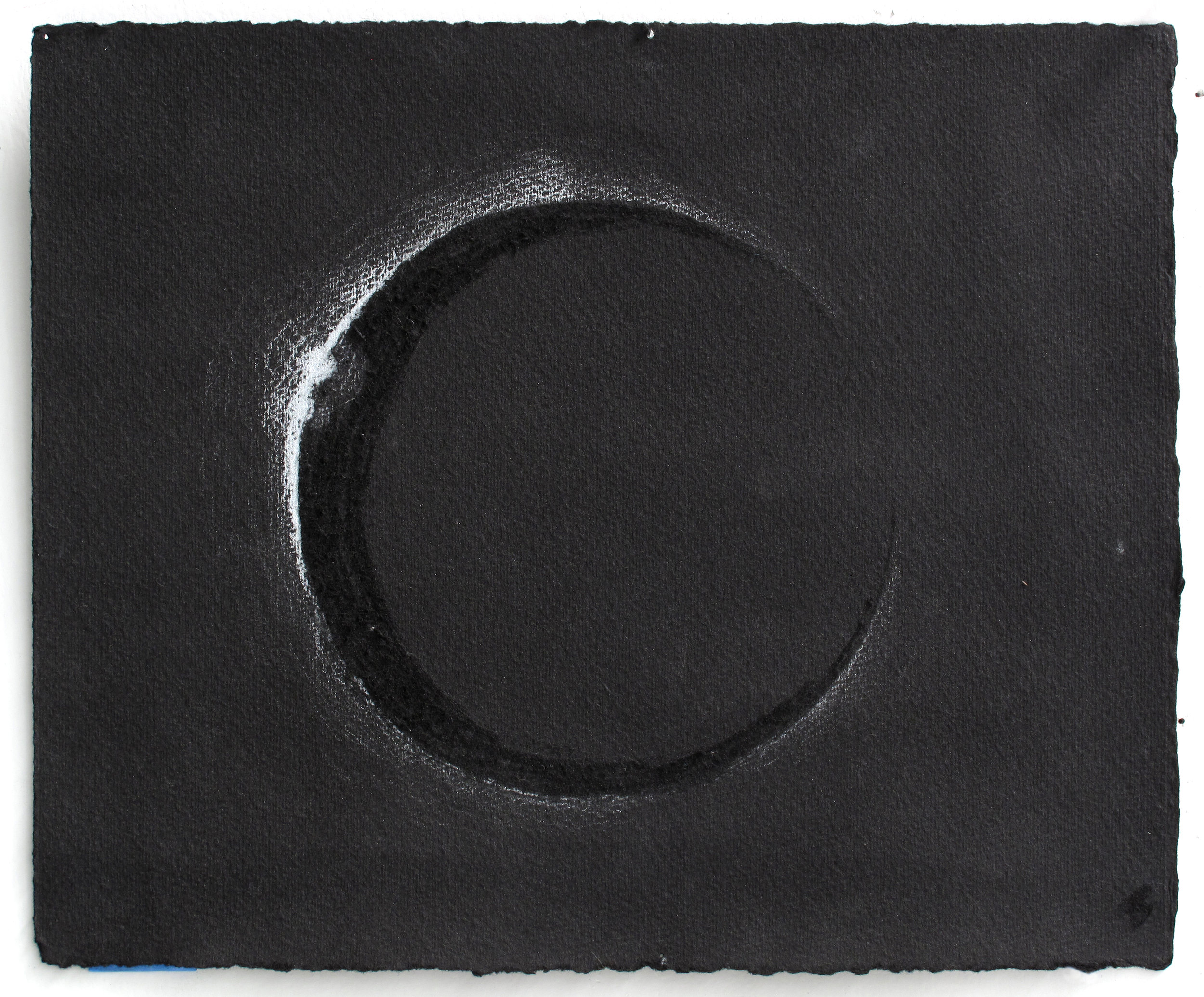 """Emerging   White Pencil, Incised Black Paper; 8 1/4"""" x 10"""""""