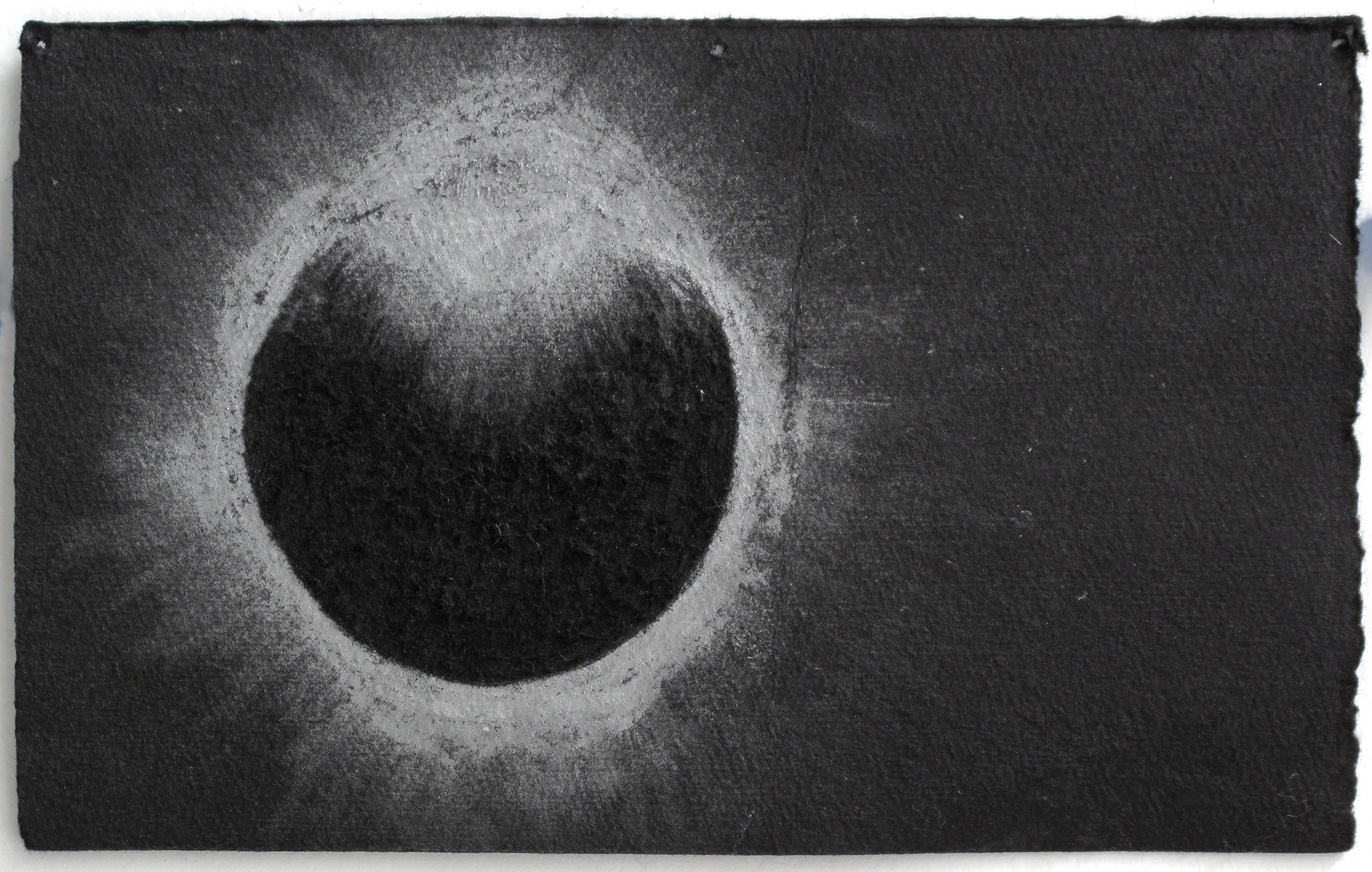 """Eclipse   Silver Pencil, Incised Black Paper; 4 1/2"""" x 6 7/8"""""""
