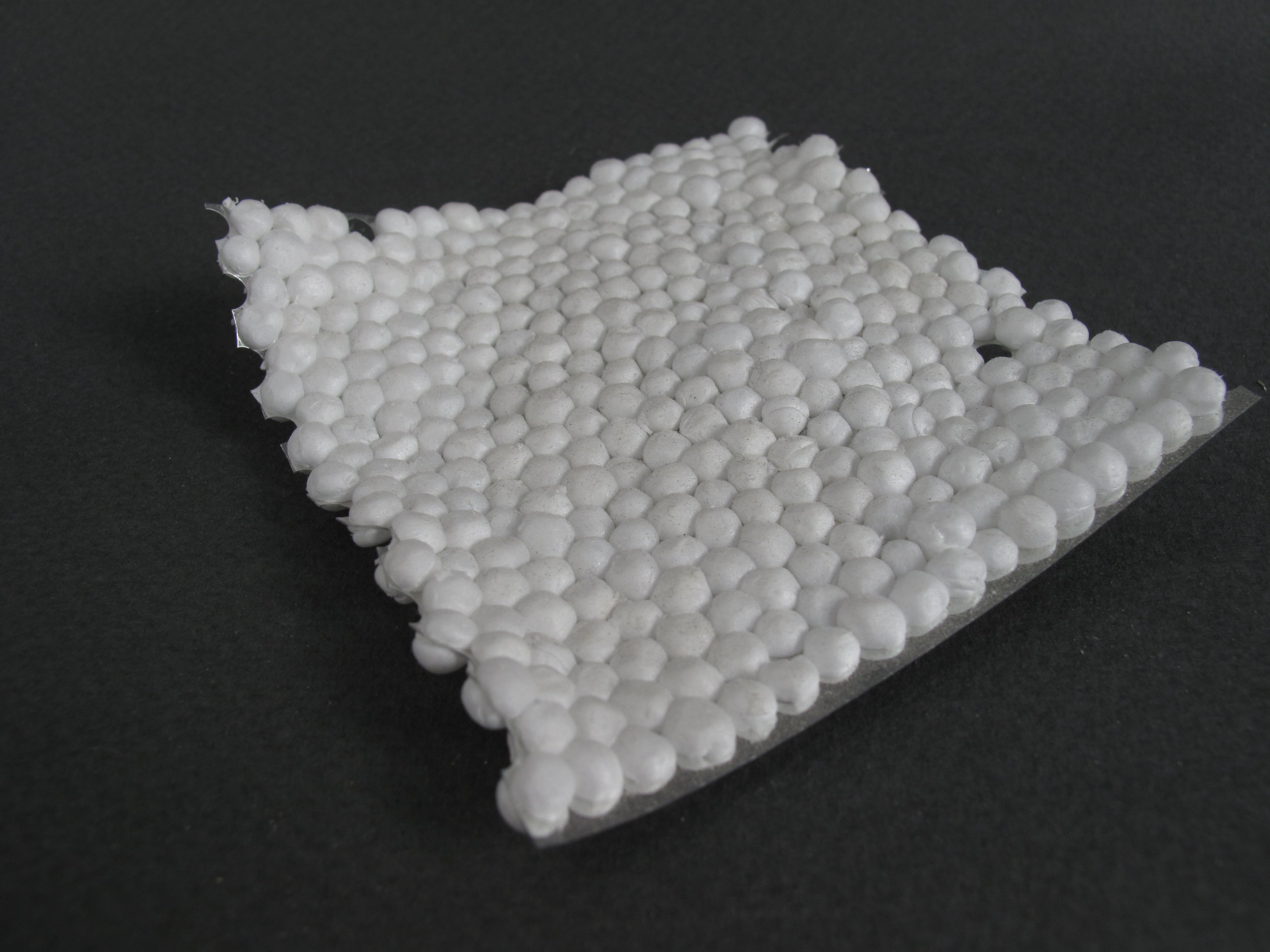 "Wave     Styrofoam Balls, Metallic Ribbon – 5""x 5"" x .5"""
