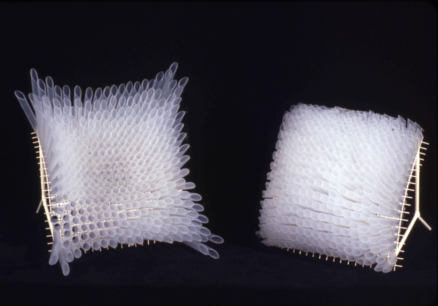 """Concave-Convex     Cut Drinking Straws, Wire Mesh - 7"""" x 7"""" x 5"""" each;"""