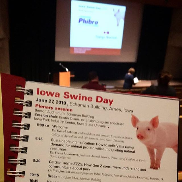 AFR is here at Iowa Swine Day! Looking forward to a great day of learning! #AmericanFarmRubber #IowaSwineDay #iowastateuniversity