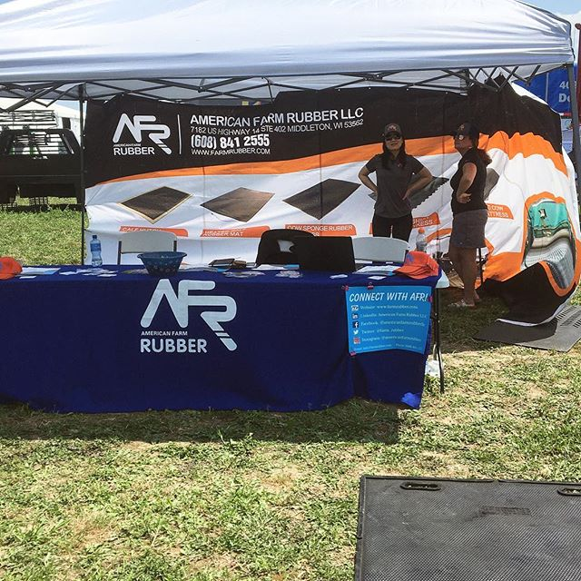 We had a great first day of Wisconsin Farm Technology Days! If you're in the area, stop by and check us out! You might get some giveaways! #wisconsinfarmtechnologydays #wisconsinfarmtechdays #giveaway #AmericanFarmRubber