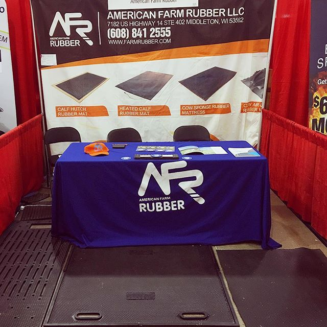 We're halfway through the Iowa State Fair! Come check us out in row 300 of the Varied Industries Building. #iowastatefair #variedindustries #AFR #AmericanFarmRubber #FarmRubber #rubbermats #livestock
