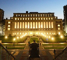 Columbia's Butler Library at Night