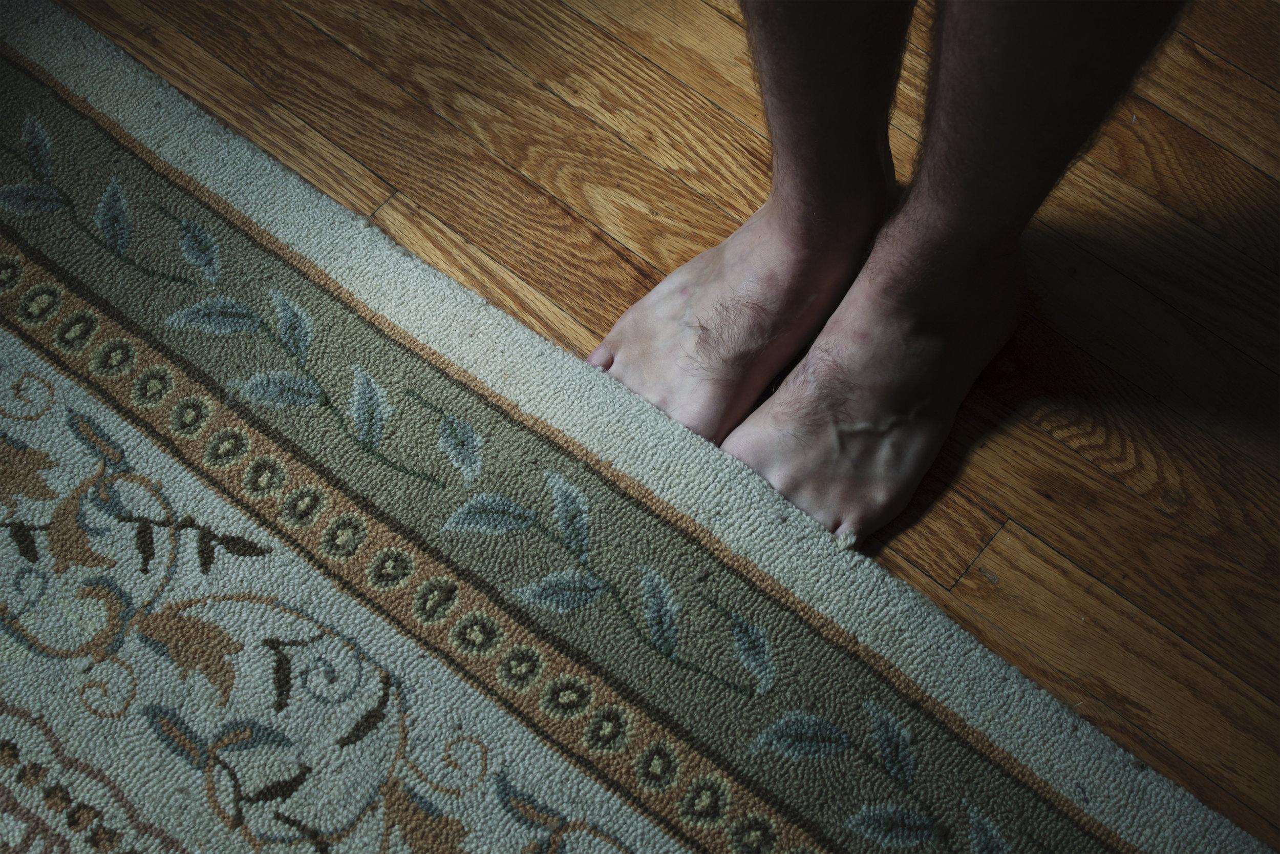 Hiding Toes Under Rug, 2018