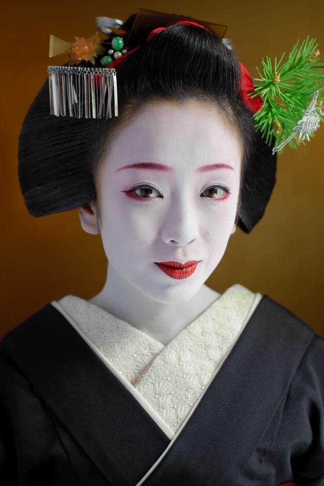 The maiko Makiko of Gion Kobu two weeks before she became a geisha in 2009