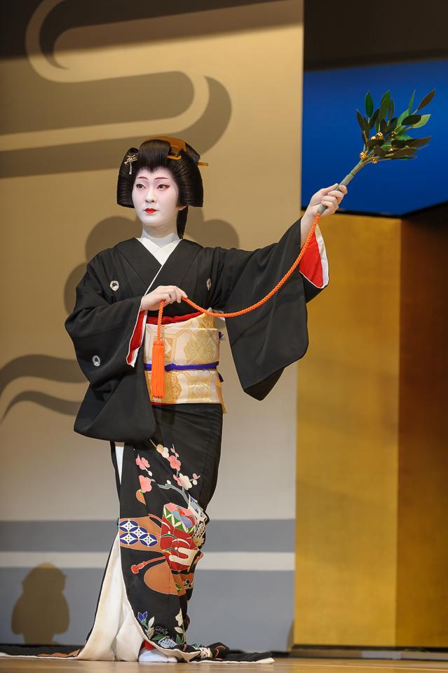 The geisha Kimina of Miyagawa-cho performs in scene 1 of the 2009 Kyo Odori