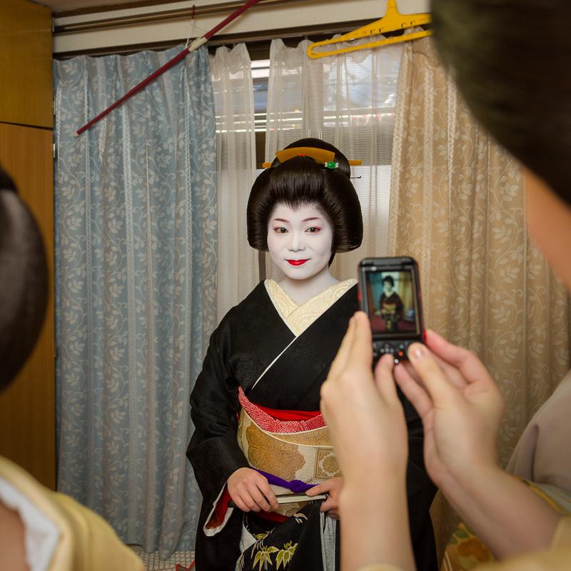 Momifuku of Ponto-cho on the day of her erikae