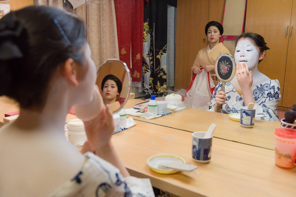 The secret to photographing the erikae of a geisha is to listen and be considerate