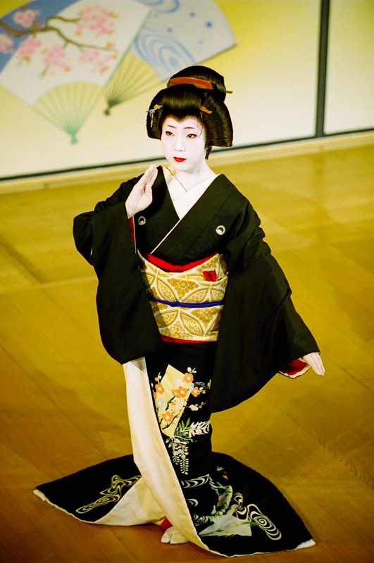 The geisha Fukunami of Miyagawa-cho performs in scene one of the 2007 Kyo Odori