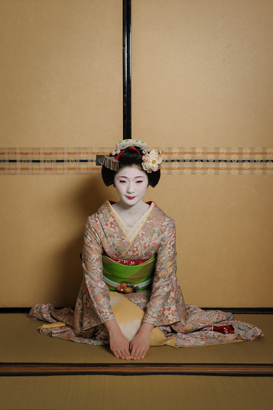 Tanewaka is a maiko in Miyagawa-cho, one of Kyoto's five geisha districts.