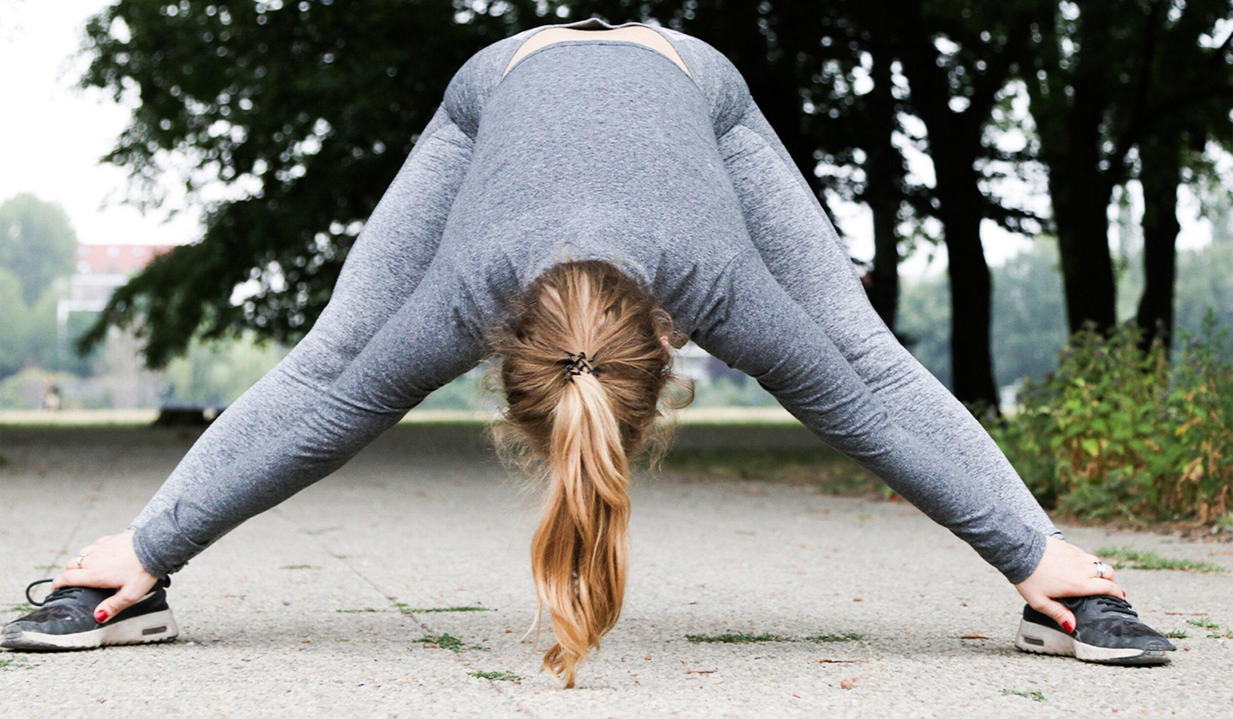 preparing for yoga class