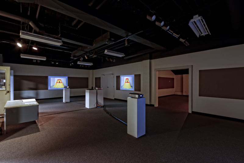 Installation view of Thomas Willis' Perceptual Ballads exhibition at Southwestern Michigan College in Dowagiac, MI. (photo courtesy Dennis Hafer)