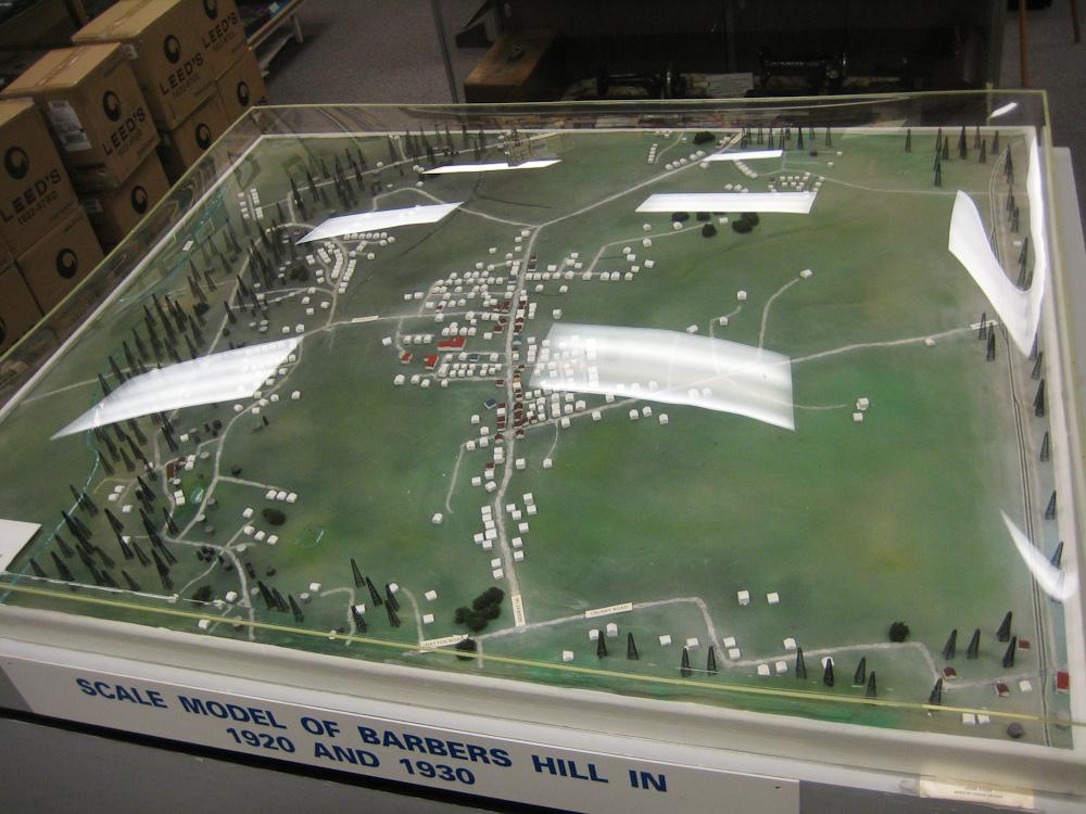 Model at the Barbers Hill / Mont Belvieu Museum, showing derricks surrounding town