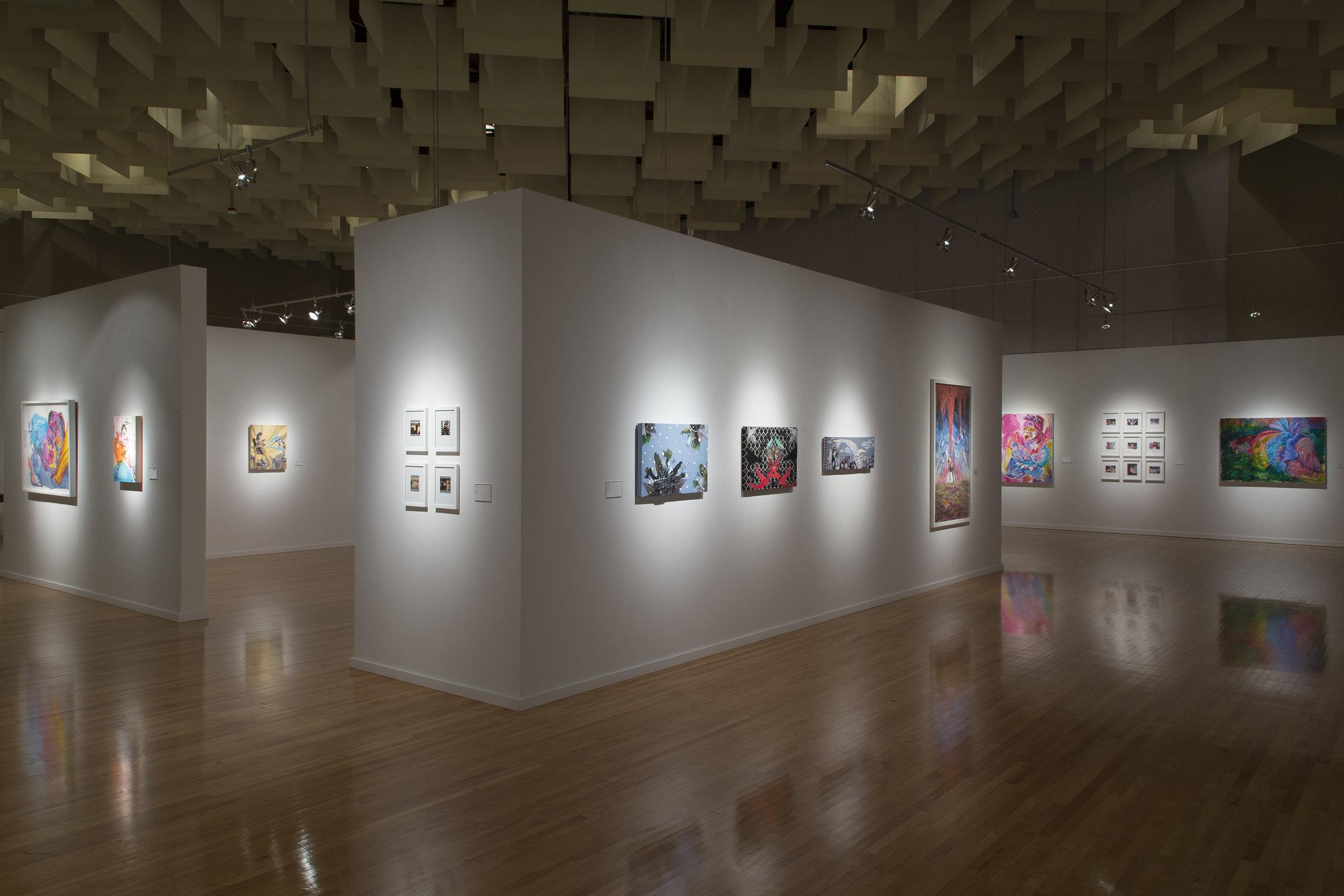Installation view, Break Ups & Tear Downs at the Marjorie Barrick Museum (image Checko Salgado)