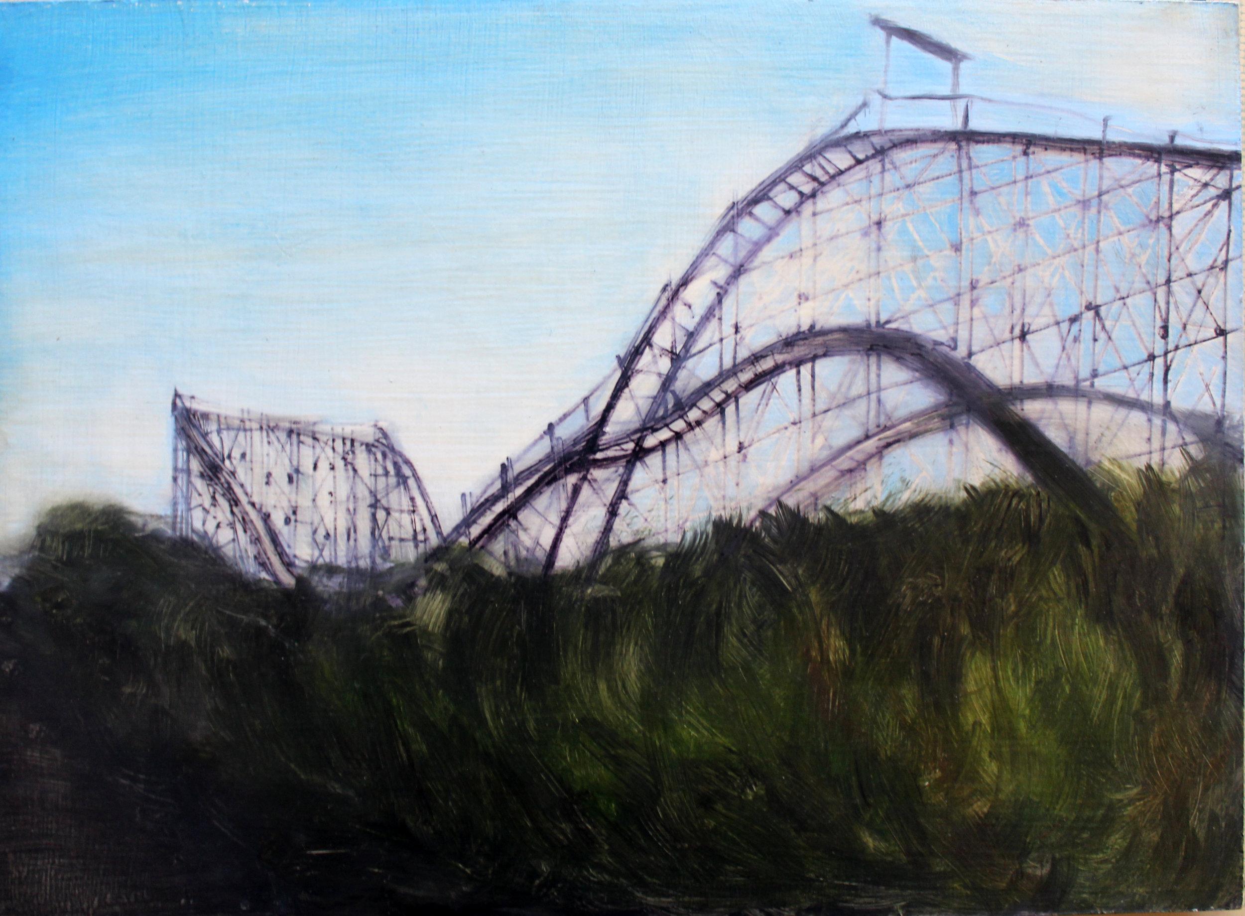 Erin Stellmon, Thunderbolt, oil on board, 2006 (Image courtesy the artist).