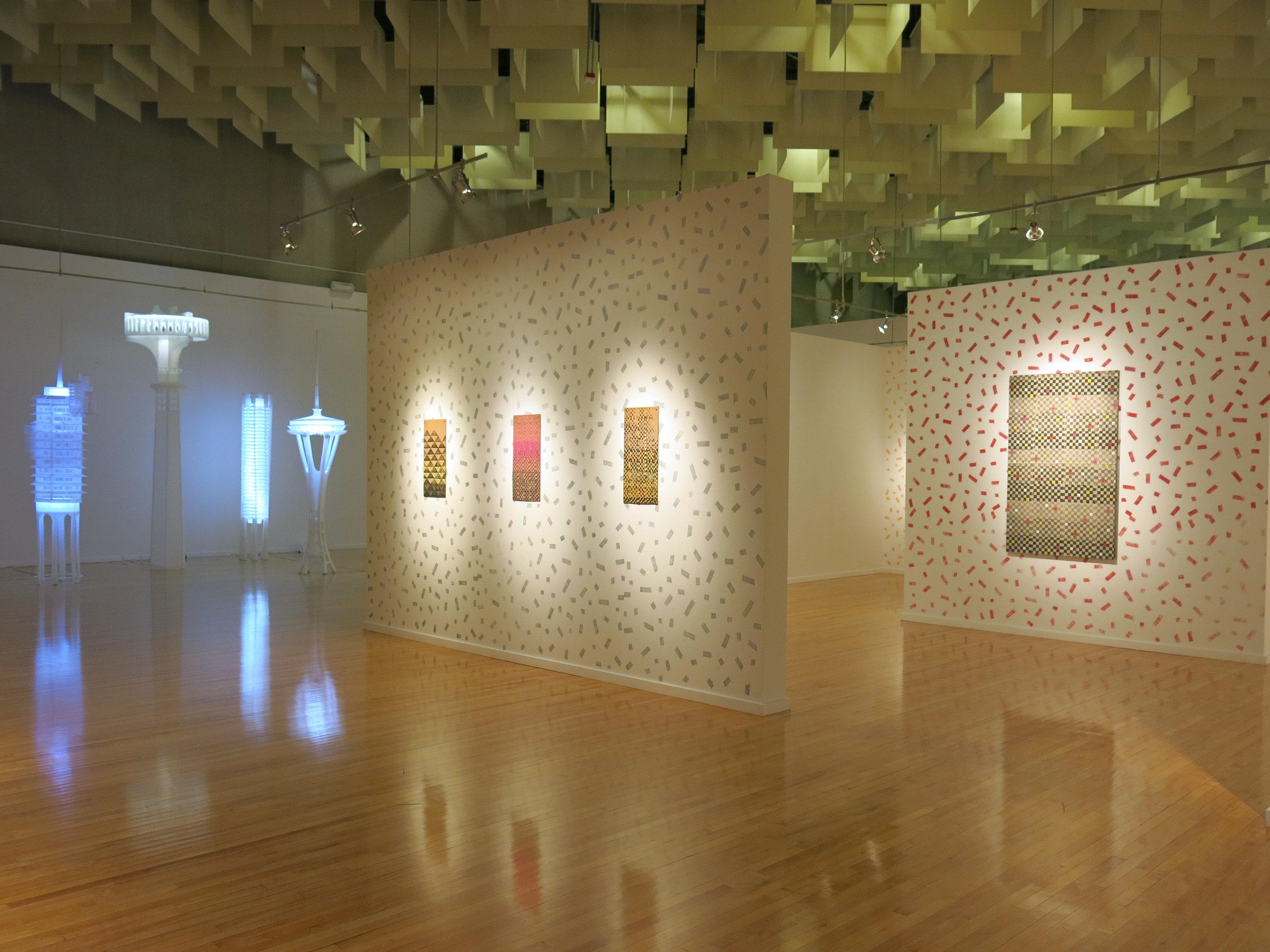 Deborah Aschheim and and Lucky DeBellevue installation, Five at the Marjorie Barrick Museum. Image courtesy Marjorie Barrick Museum.