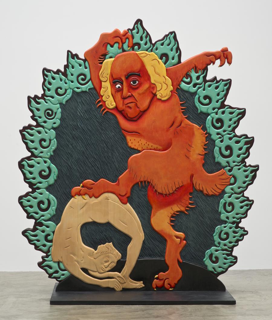 Erin Cosgrove, Urfather Adams, Polychrome basswood, 2012. (Image courtesy the artist and Artist Pension Trust, Los Angeles)