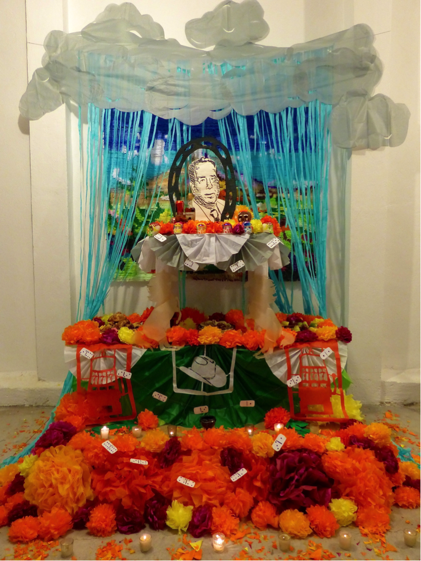 Justin Favela, Altar for Rito Favela, paper and found objects (image courtesy the artist)