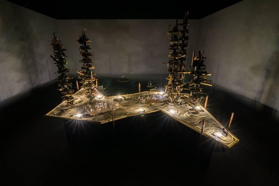 David Sanchez Burr, Citadel II, interactive installation, mixed media and electronics, 2016. (Image courtesy David Sanchez Burr. Photo credit Christopher Holloman)