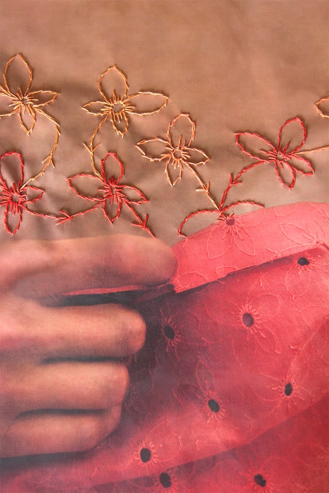 Felicia Mora, detail. At the Alumni Gallery at UNLV. (Image courtesy the artist and Donna Beam)