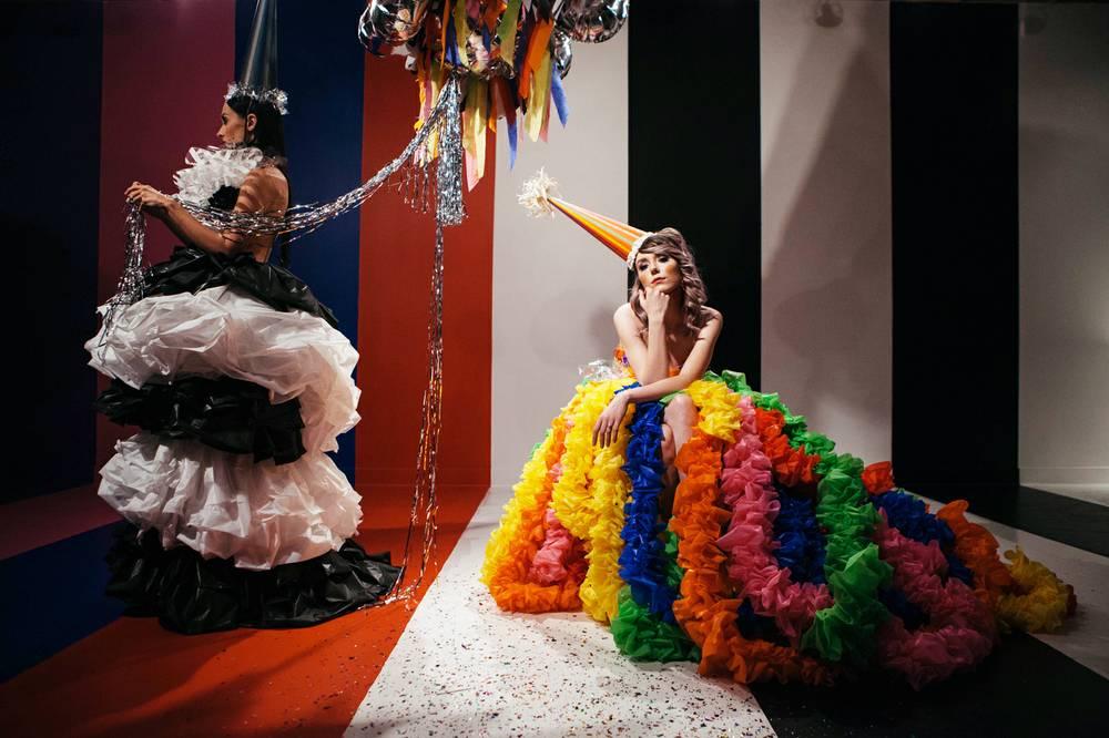 Jennifer Henry, installation and performance at The Cube. (Photo courtesy Mikayla Whitmore)