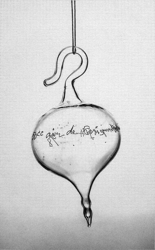 Dan Fischer, Marcel Duchamp, Air de Paris III , 2016, graphite on paper, at Derek Eller Gallery. Courtesy the artist and Derek Eller Gallery.