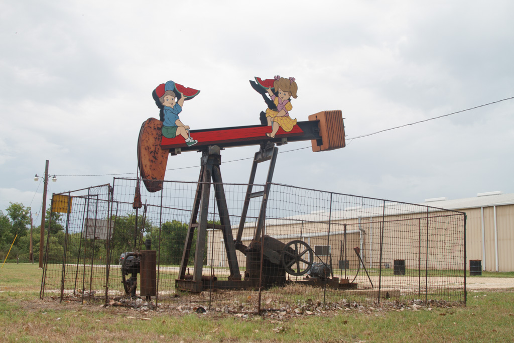 See Saw Kids , George Kalesik, in front of Elgi Rubber. Photo: Laura Napier