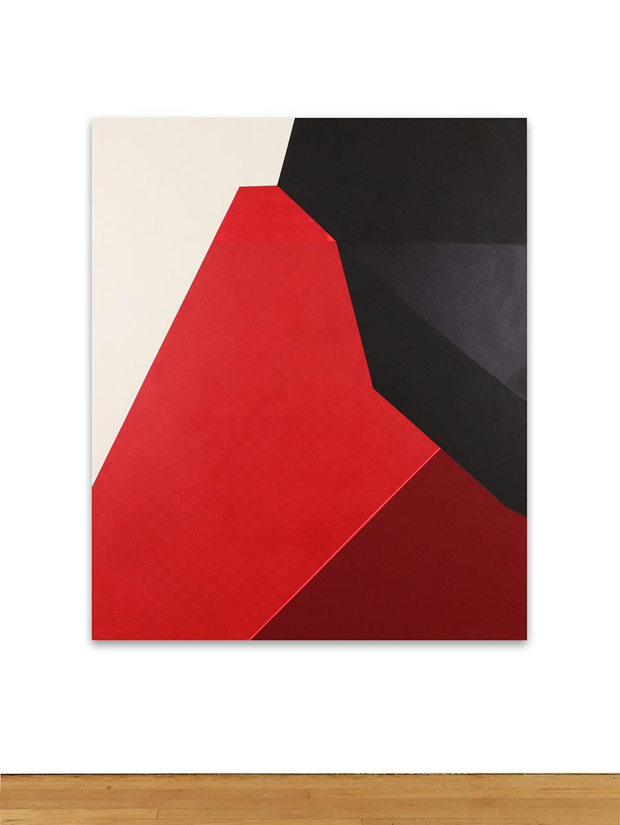 Audrey Barcio, Untitled, 2017, acrylic and flashe on canvas, 60×50. (Image courtesy the artist)