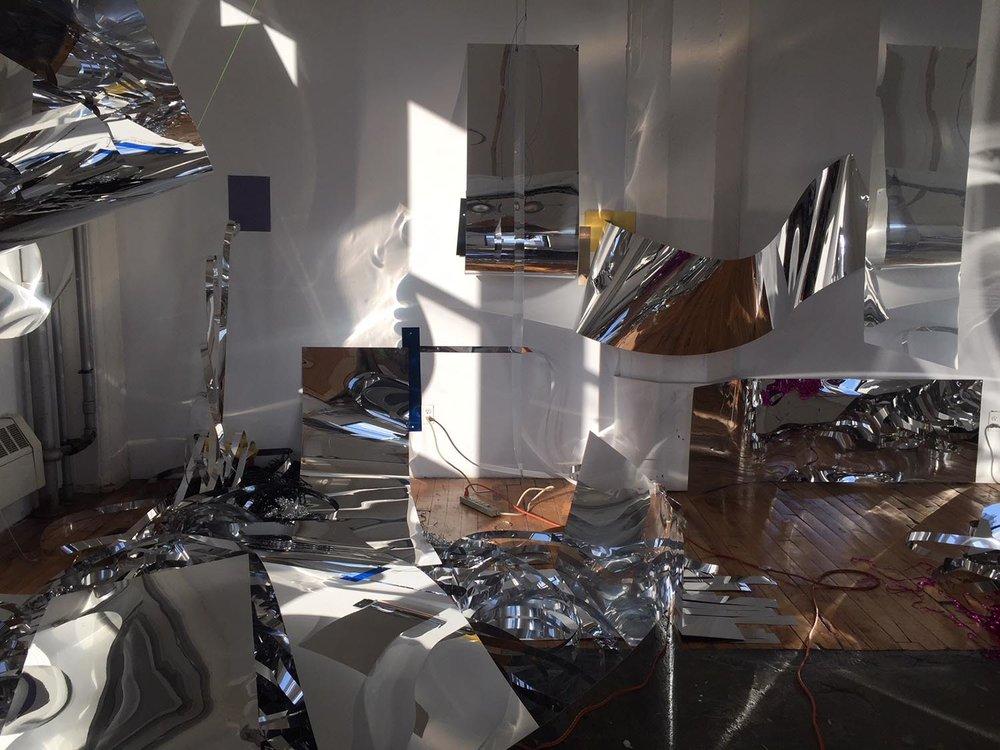 Sharon Louden, installation-in-progress at the Sharpe-Walentas Studio Program. Image  Sharon Louden