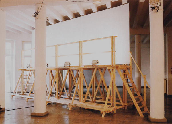 Daniel Habegger   Big Plans   installation, Podewil Berlin, curated by Angelika Stephen   1996