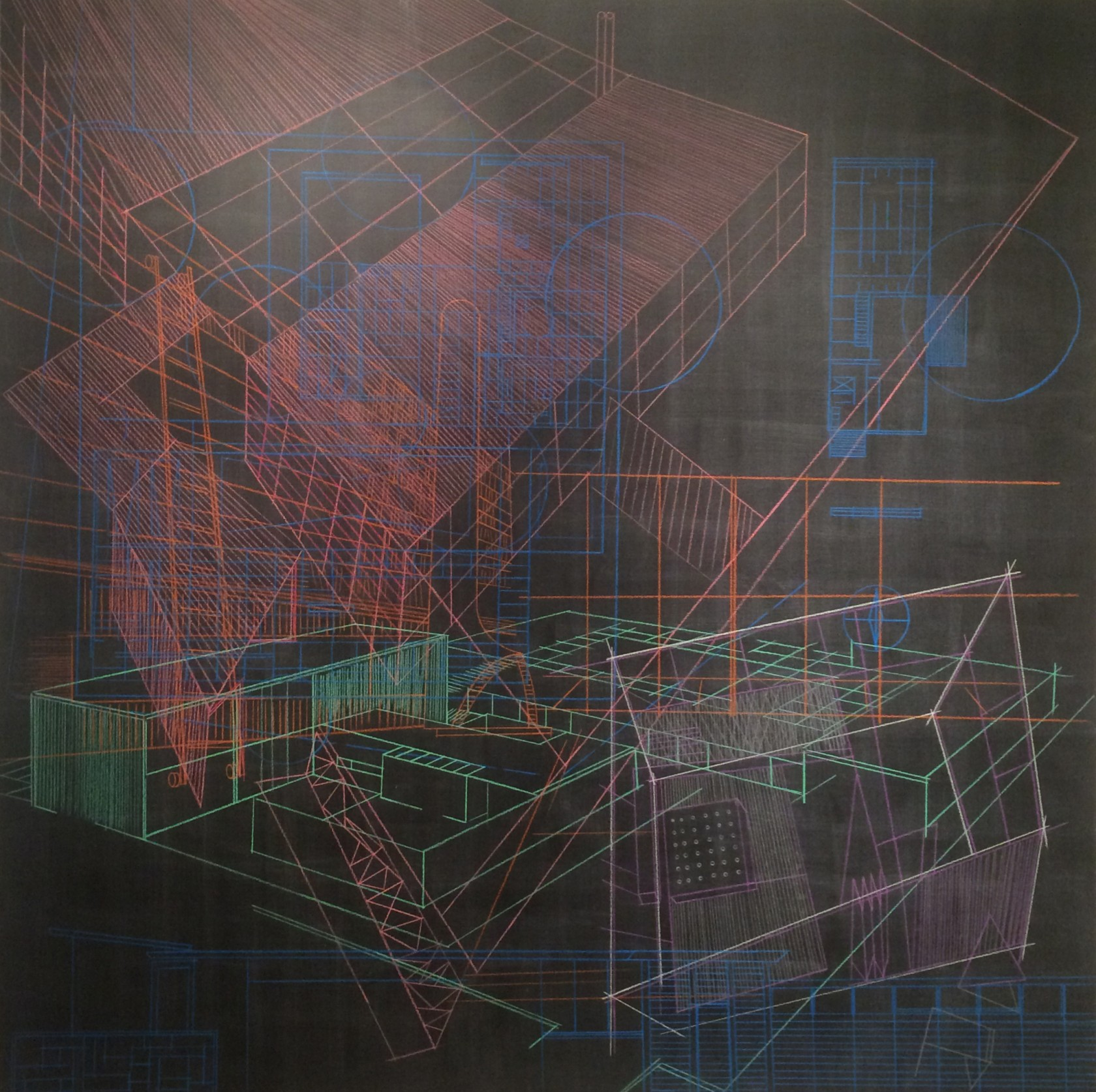 Shawn Hummel | Rapson, Smith, Knorr/Elliot | Prismacolor and acrylic paint on birch panel