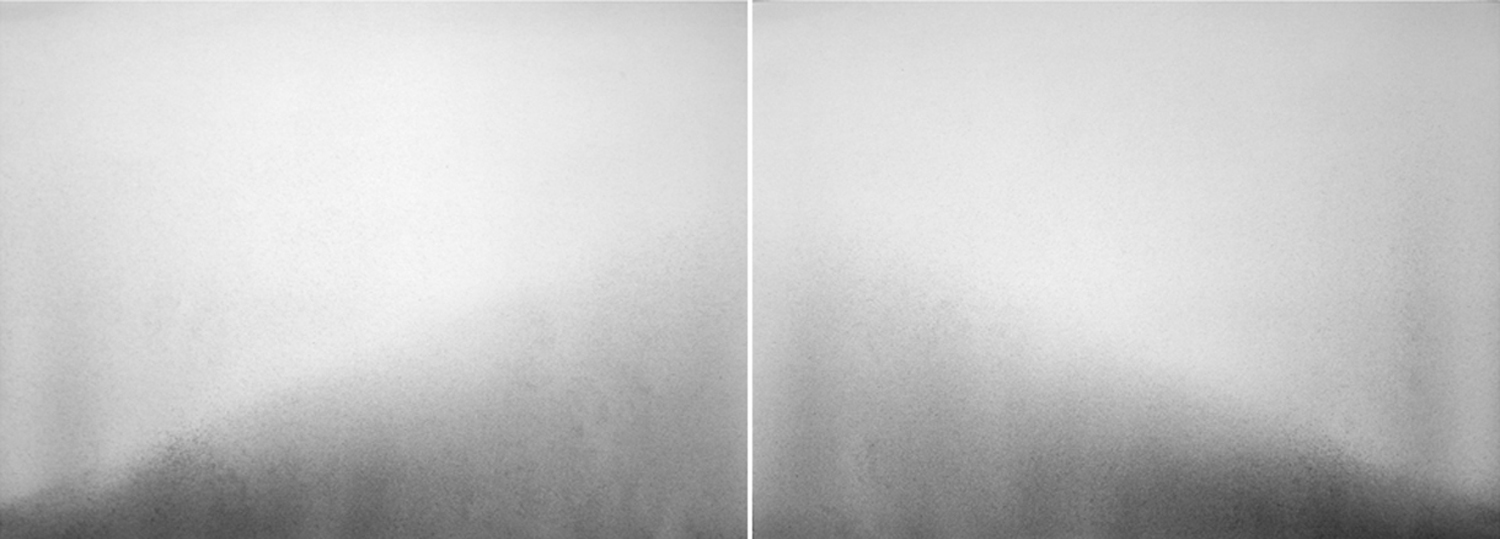 Sommerhauser | Halved Mound | graphite on Rives BFK diptych