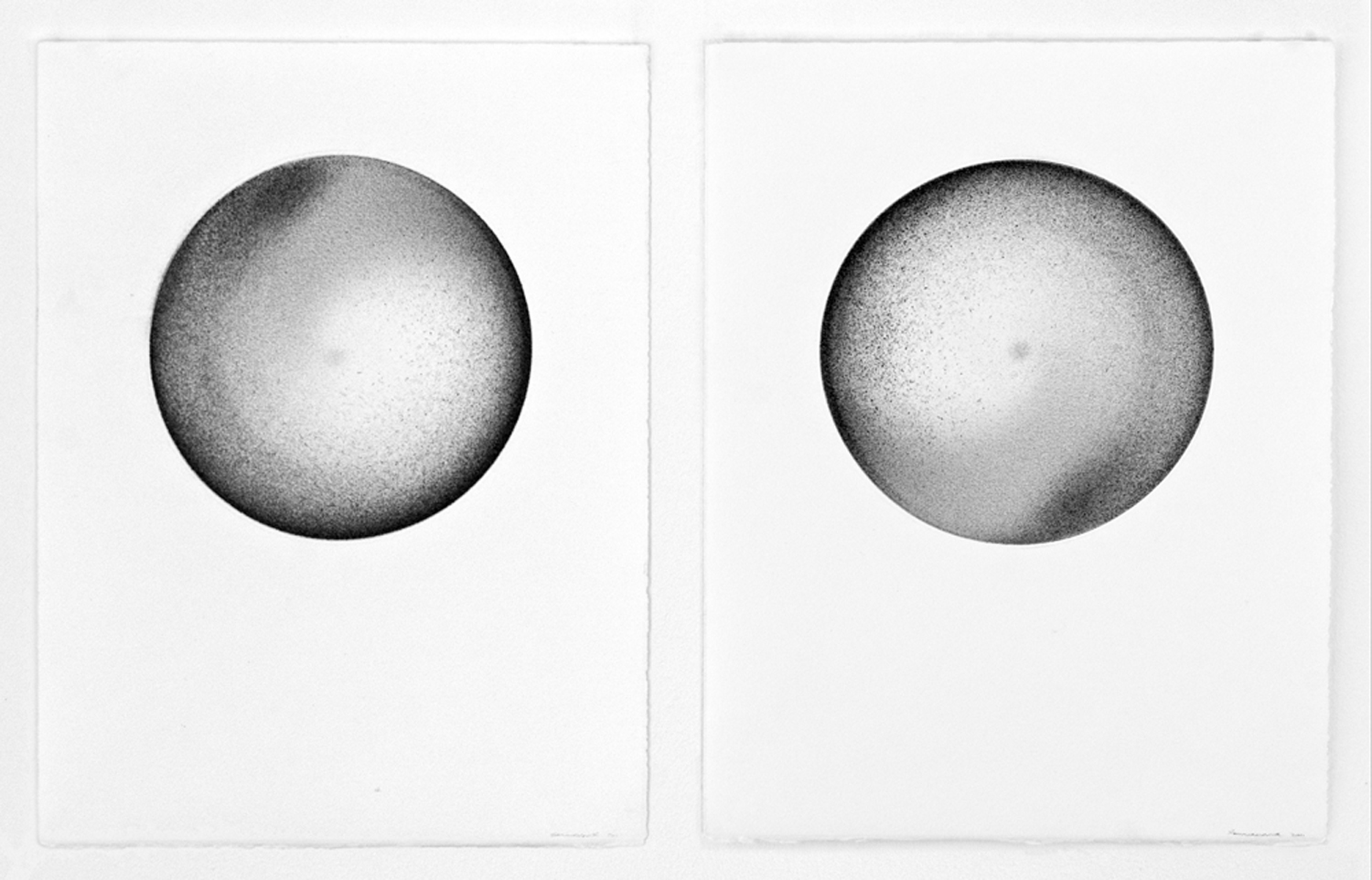 Sommerhauser | northerly/southerly | graphite on Rives BFK diptych