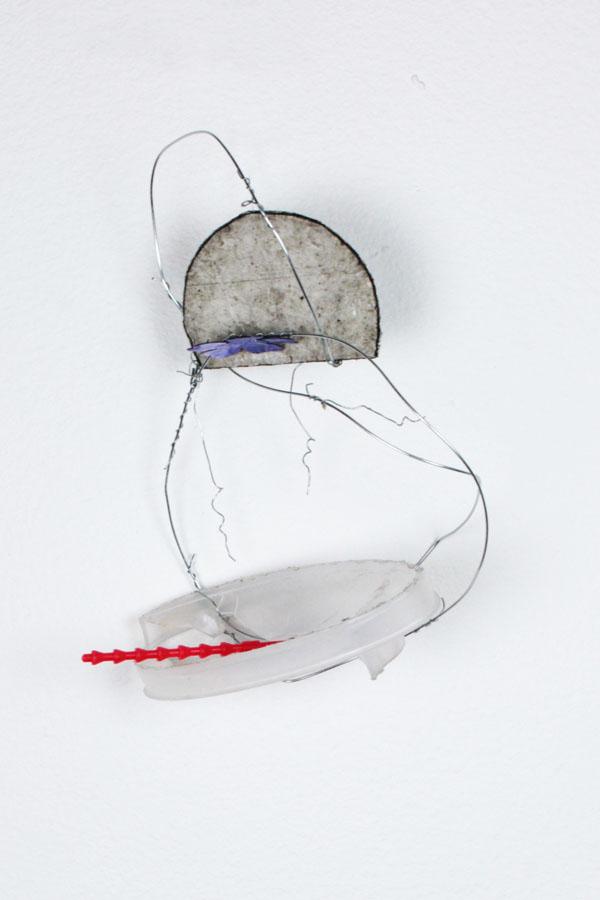 Sole | fancy wandered | plastic, wire, fake flower, card