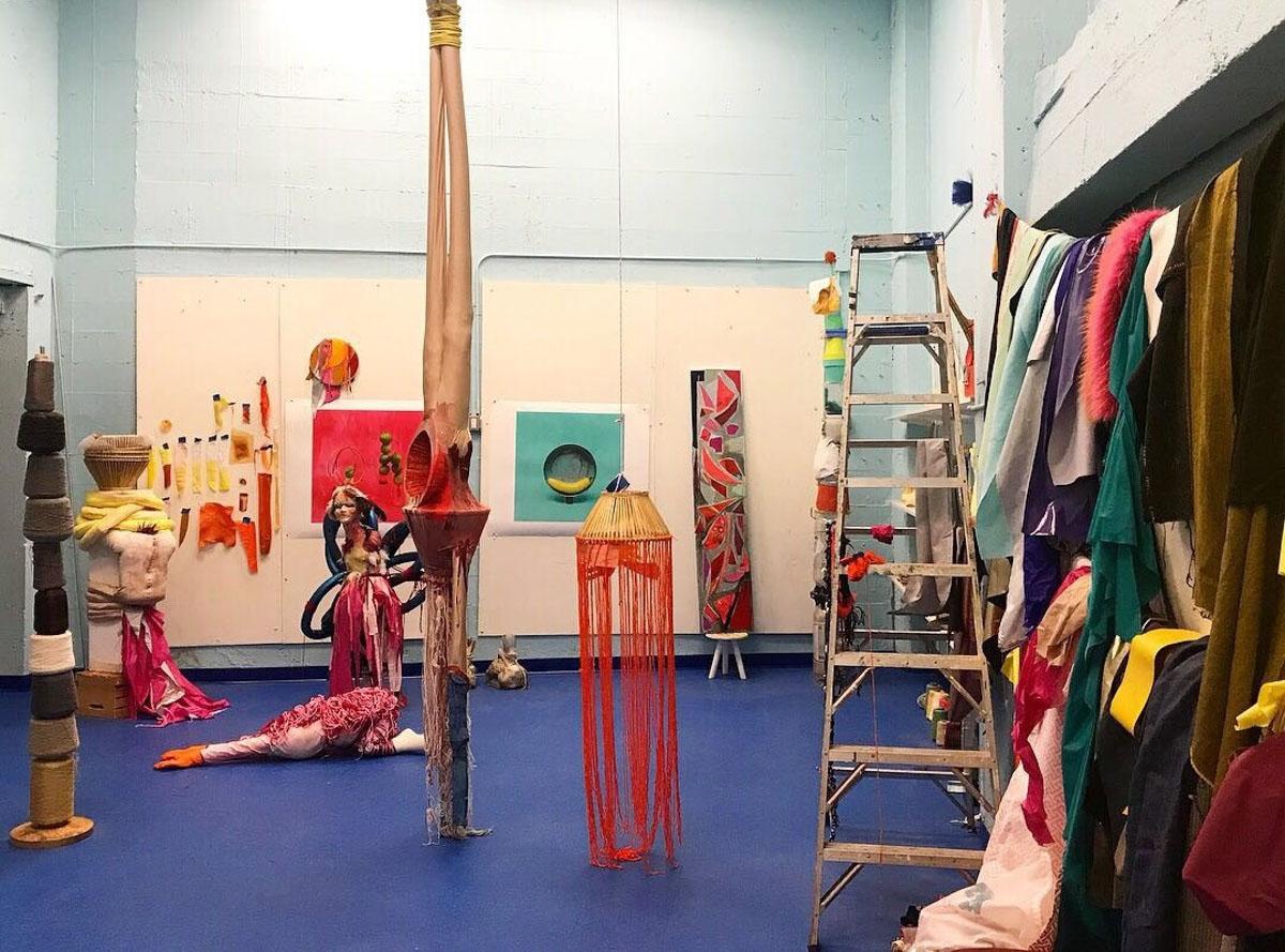 Ettun's studio, images courtesy the artist