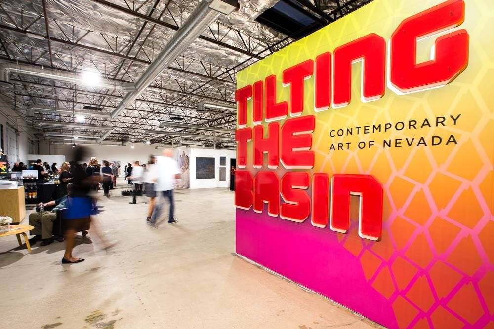 Tilting the Basin, Contemporary Art of Nevada, Nevada Museum of Art traveling exhibition/pop-up exhibition in downtown Las Vegas, 2017. Image Nevada Museum of Art.