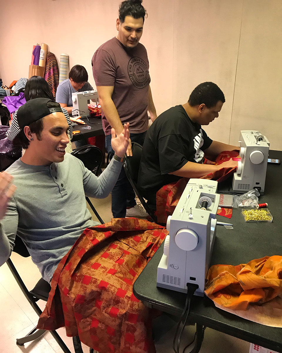 First Community Sewing Day, Winchester Dondero Cultural Center. Photo Amanda Browder.