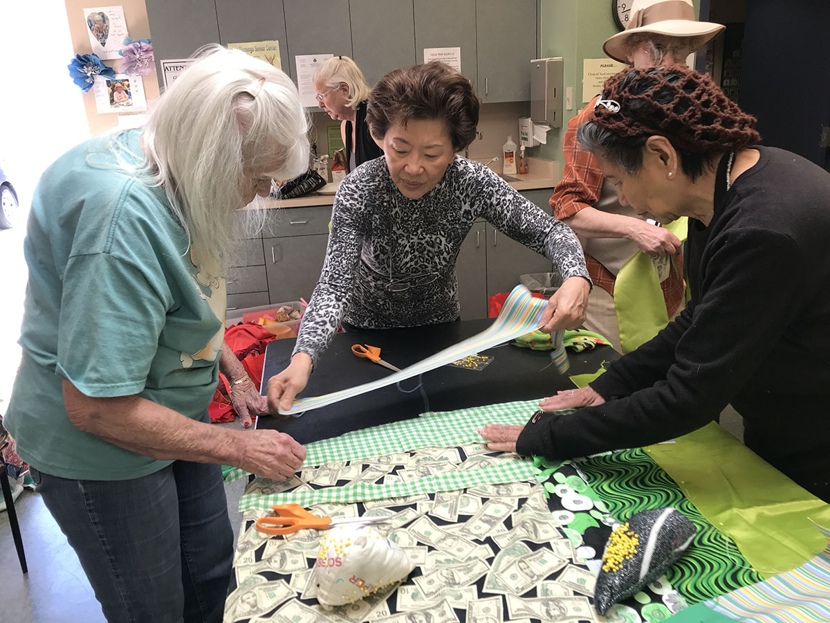 Sewing Day at West Flamingo Senior Center, Photo Amanda Browder.