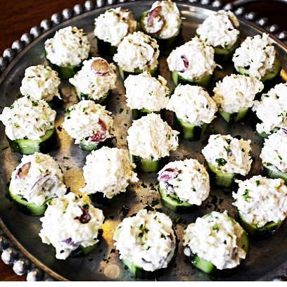 Table 3 Catering!  Classic chicken salad in English cucumber cups 😋👏👏🥂 #catering #nashville #nashvillecatering #bistro #greenhills #greenhillsshoppingcenter #eaternashville #nashvillefoodie #nashvillefood #nashvillefoodfan #chickensalad