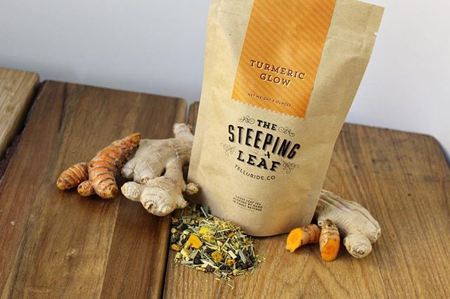 Turmeric Glow, always our bestseller, is filled with all the right ingredients to boost your body from the inside out. Turmeric, ginger, lemongrass, & bright citrus flavors combine to create a sunshine cup of health! . . . . #turmeric #turmerictea #antiinflammatory #teablend #ginger #citrus #golden #teatime #thesteepingleaf #tea #naturalhealing #herbalhealing #herbaltea #staygold