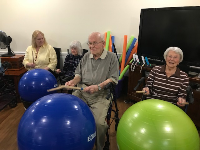 Never too old to drum! Harry & Betty - 98 & 101 years old.