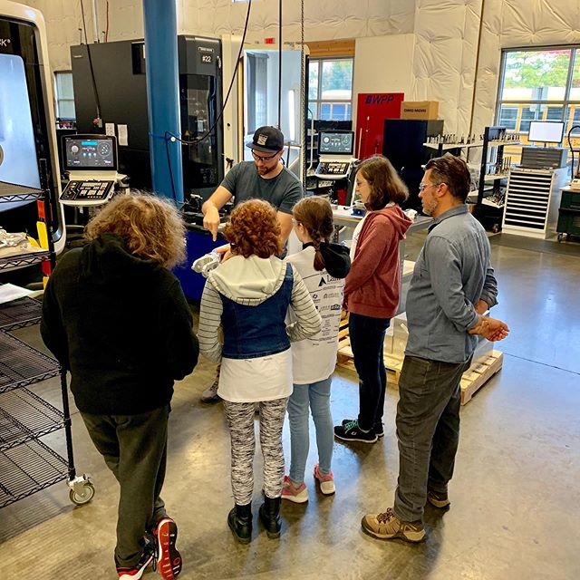 Manufacturing Day 2019 - the kids were so excited to see a 3D printer, and learn how the programming process works! #manufacturing #cncshop #machinist #cnc #5axis #3DPrinter #Engineering #mfgday19