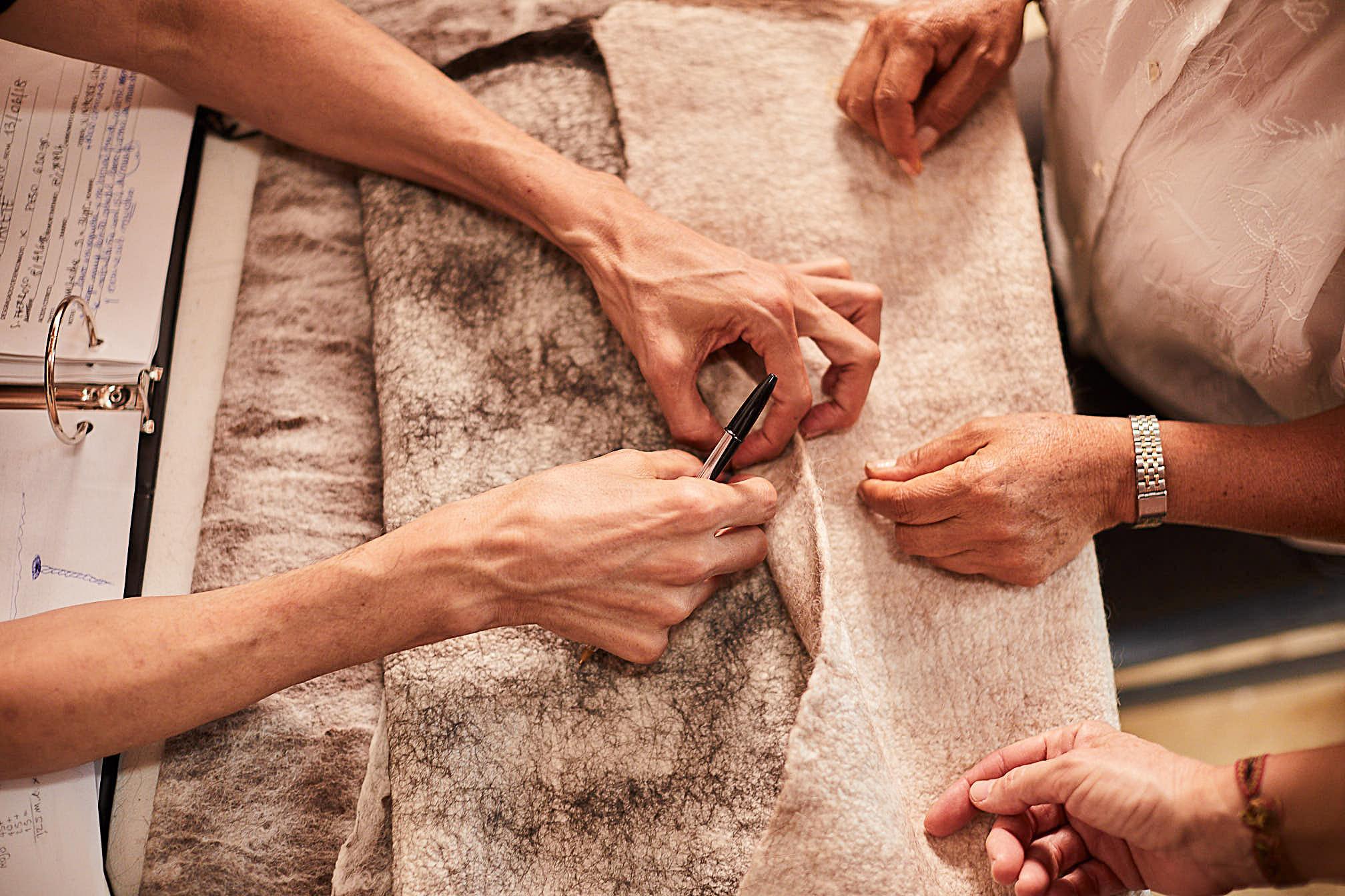 Madda Studio nuno process for handmade pillow in Mexico