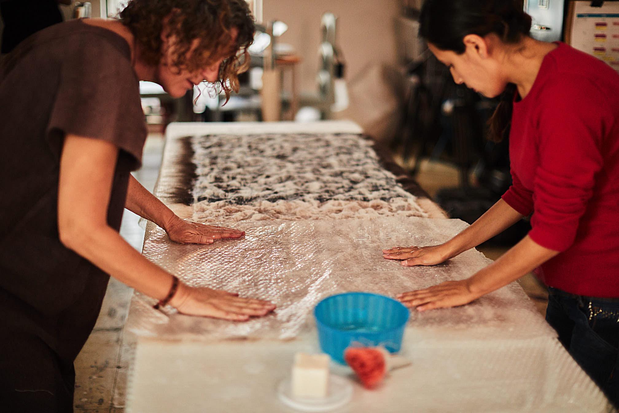 Madda Studio Designs and creates pillows with Nuno Process