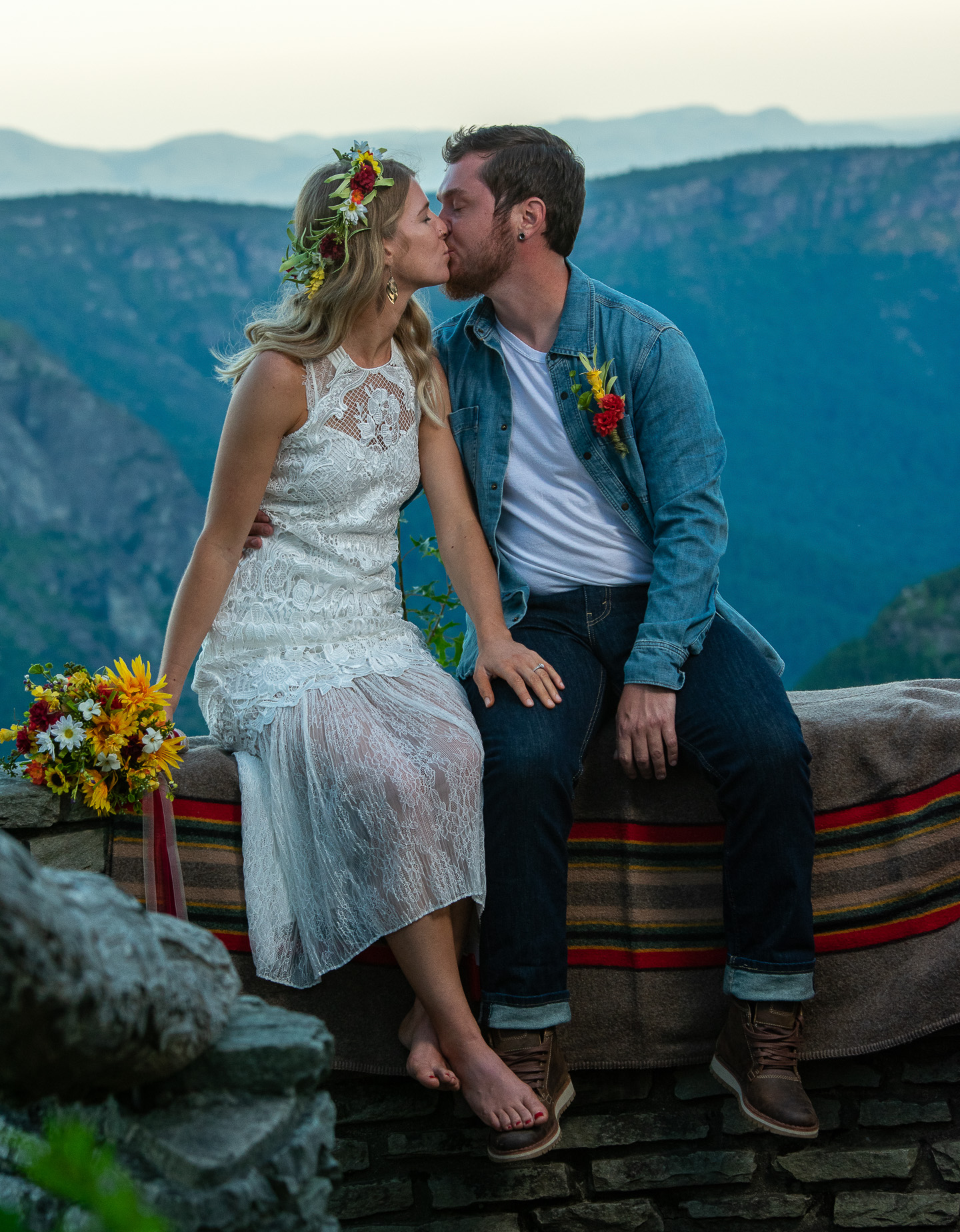 An elopement at the Linville Gorge