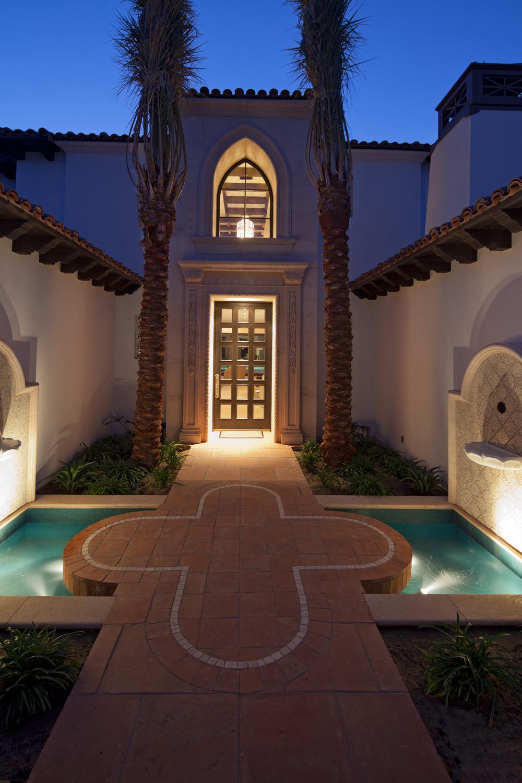 Contemporary-Spanish-Evening-Entryway-Fountains-Premier-General-Contractors.jpg